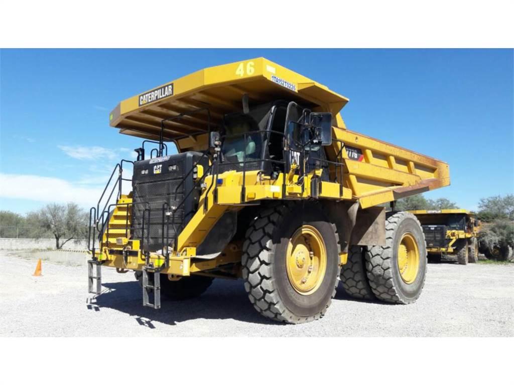 Caterpillar 777GLRC、アーティキュレート式ダンプトラック、建設