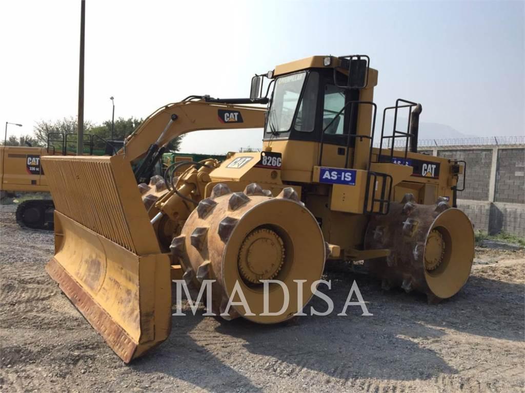 Caterpillar 826C, Compactadores, Equipamentos Construção