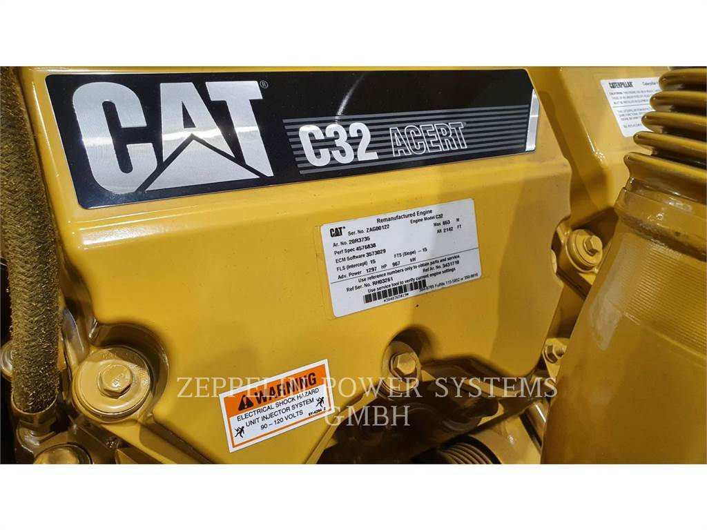 Caterpillar C32 GENSET ENGINE, Stationary Generator Sets, Construction