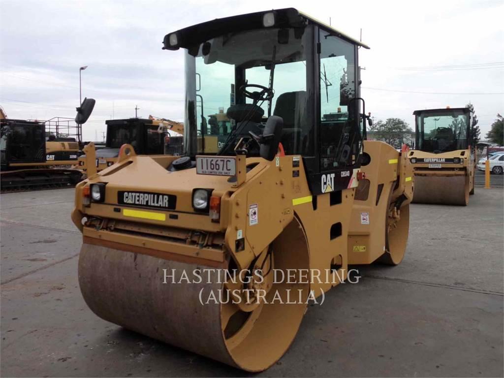 Caterpillar CB-534D, Rodillos de doble tambor, Construcción