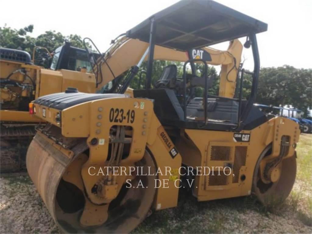 Caterpillar CB 54 B, Twin drum rollers, Construction