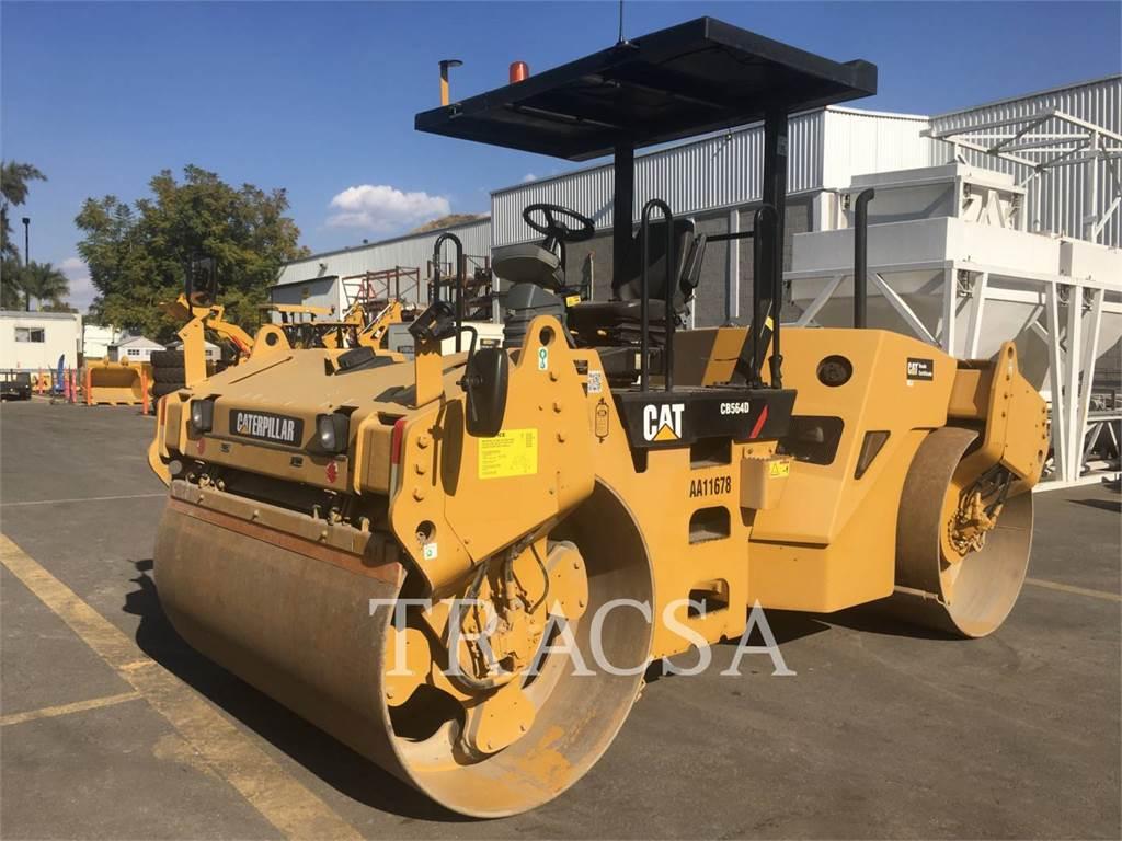 Caterpillar CB-564D, Rodillos de doble tambor, Construcción