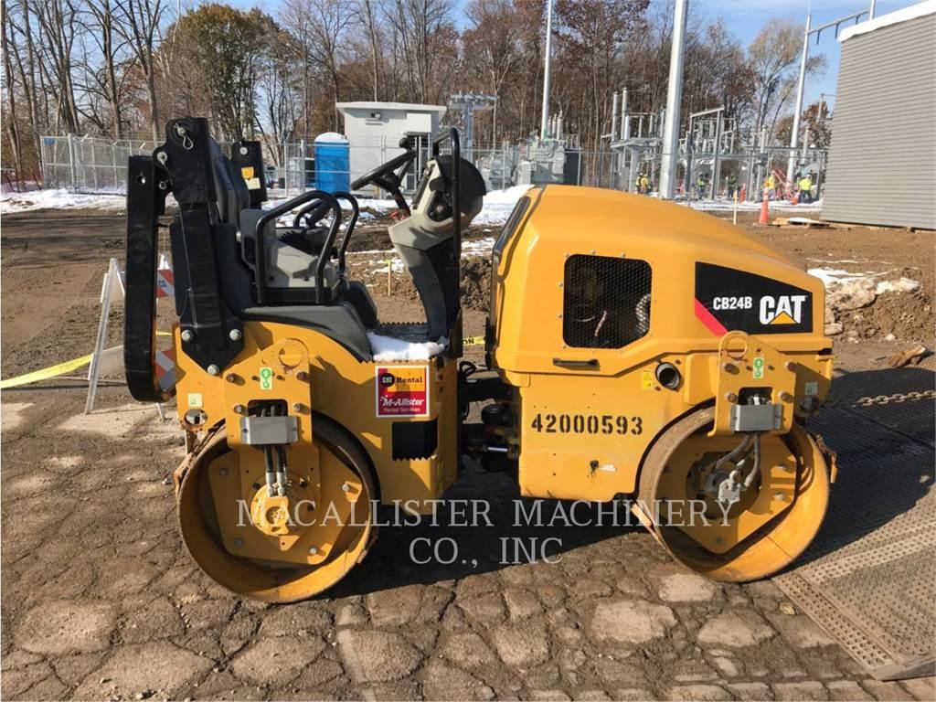 Caterpillar CB24B、タンデムローラ、建設