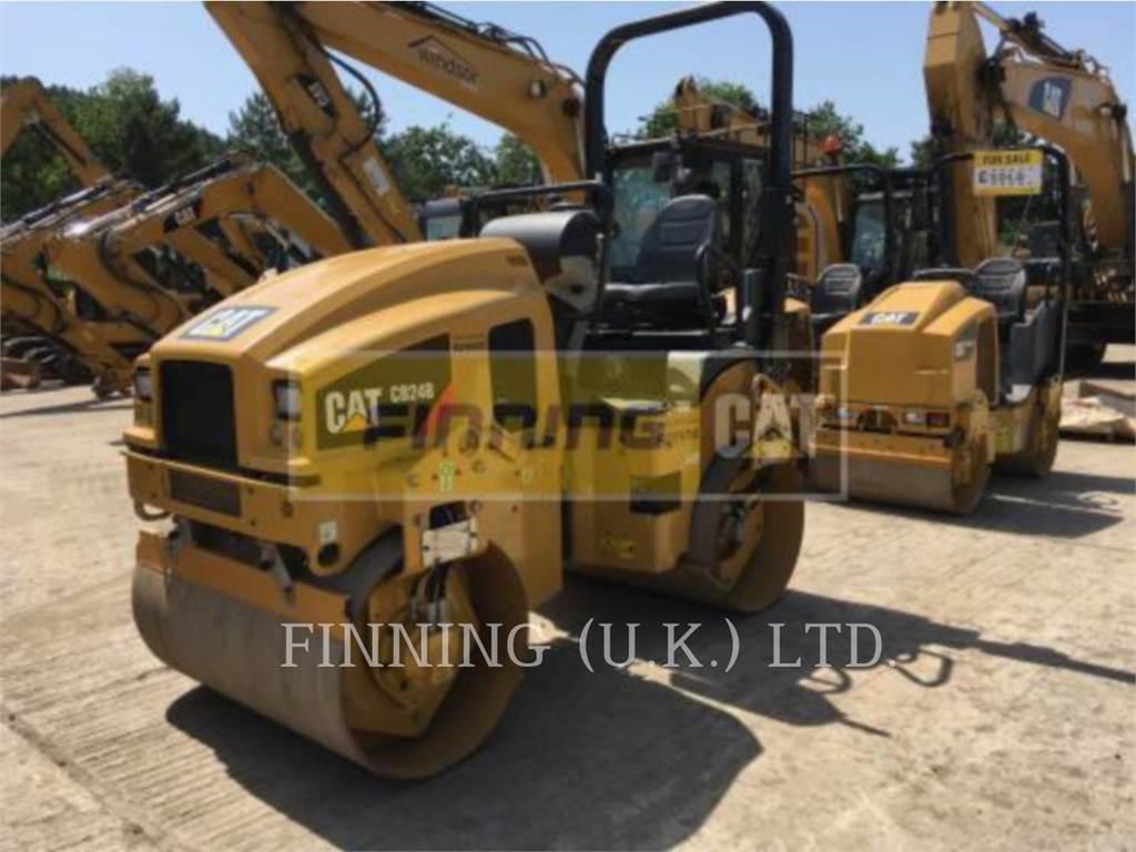 Caterpillar CB24BLRC, Twin drum rollers, Construction