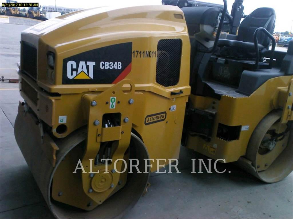 Caterpillar CB34B, Cilindri compactori dubli, Constructii
