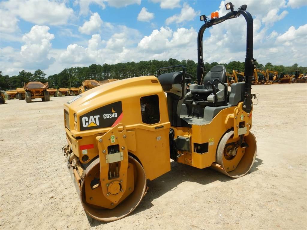 Caterpillar CB34B、タンデムローラ、建設