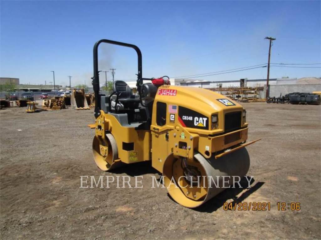 Caterpillar CB34B LT, Twin drum rollers, Construction
