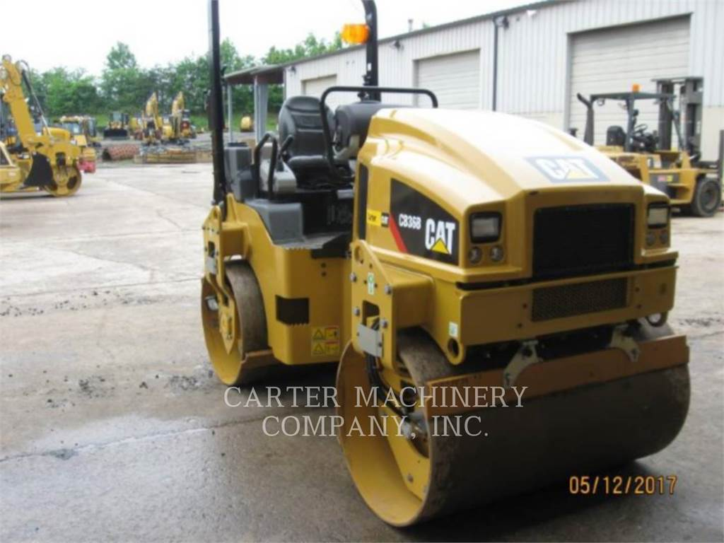 Caterpillar CB36B, Twin drum rollers, Construction