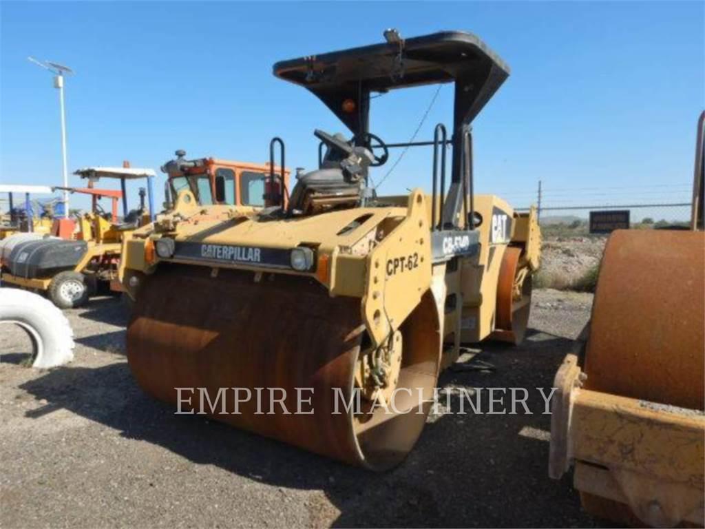 Caterpillar CB534D, Twin drum rollers, Construction