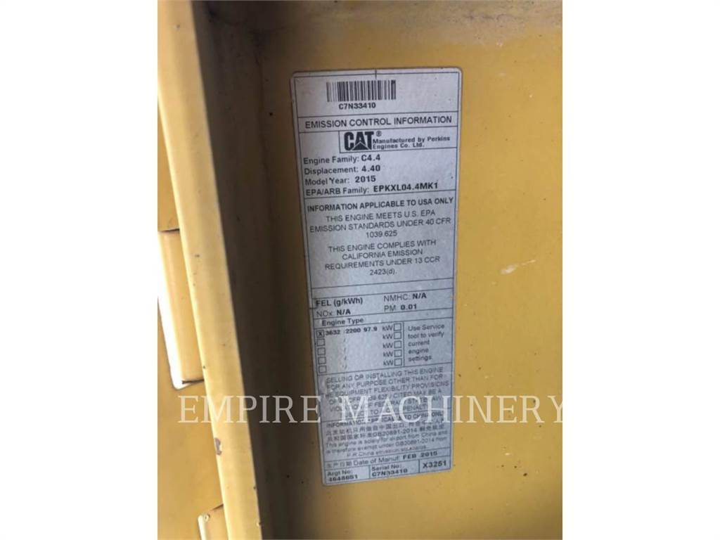 Caterpillar CB54B, Twin drum rollers, Construction