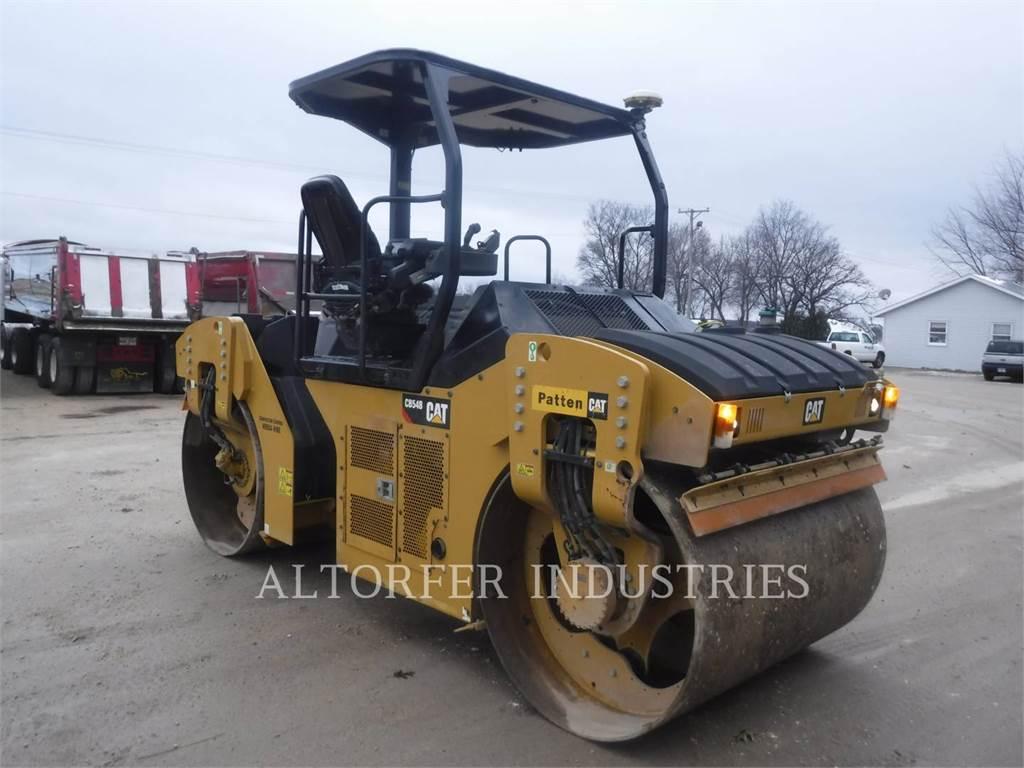 Caterpillar CB54B MAP, Twin drum rollers, Construction