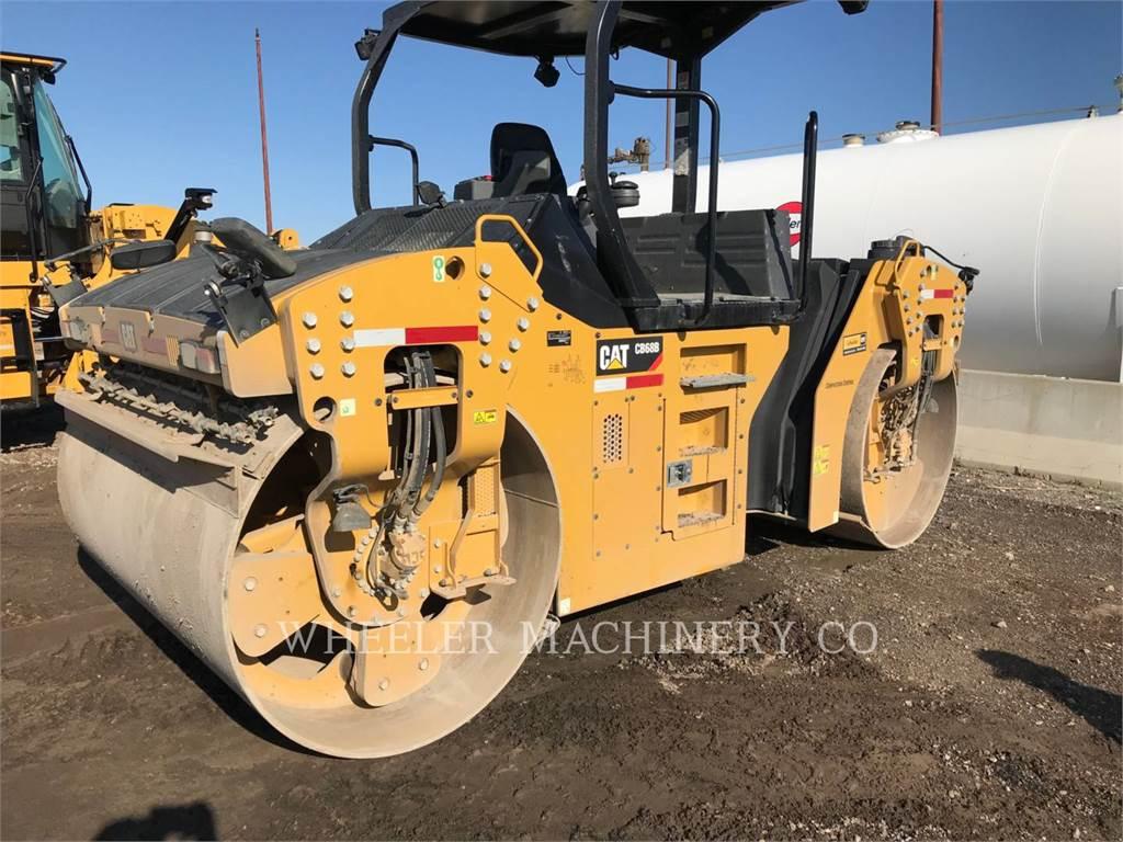 Caterpillar CB68B、双轮压路机、建筑设备