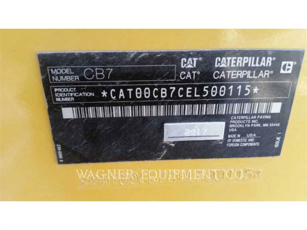 Caterpillar CB7, Compactors, Construction