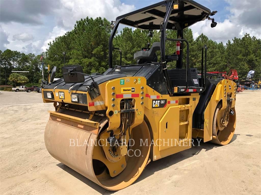 Caterpillar CB7, Twin drum rollers, Construction