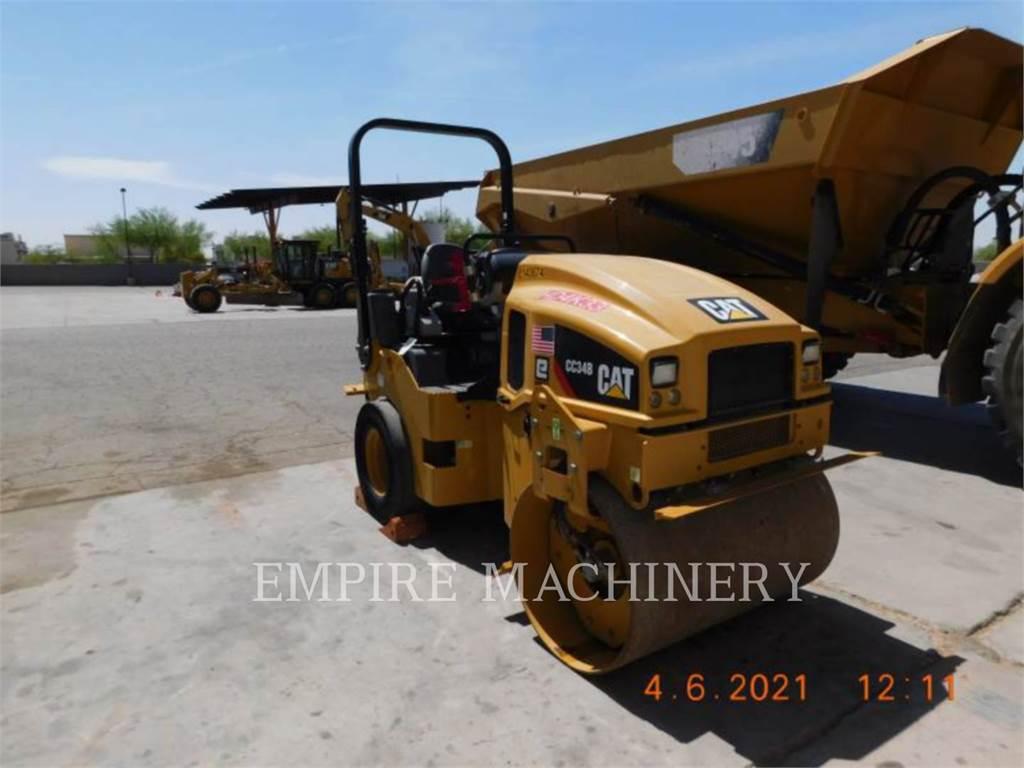Caterpillar CC34B、双轮压路机、建筑设备