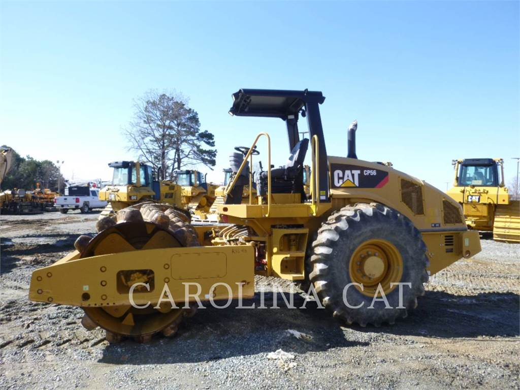 Caterpillar CP56, Twin drum rollers, Construction
