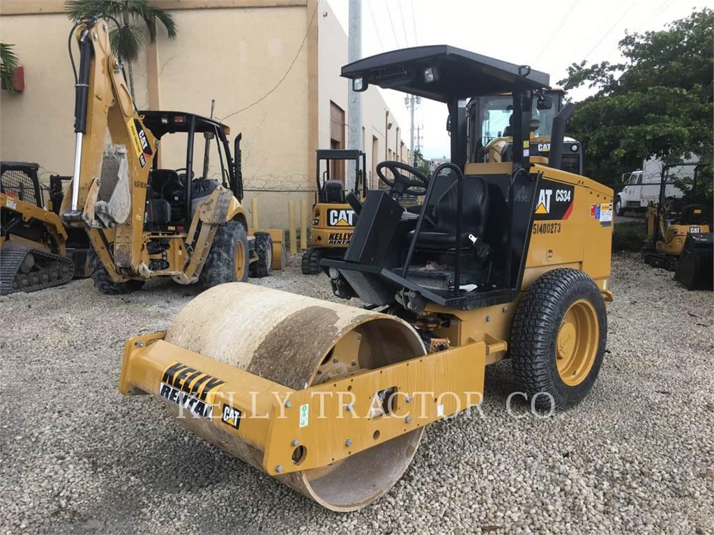Caterpillar CS 34, Single drum rollers, Construction