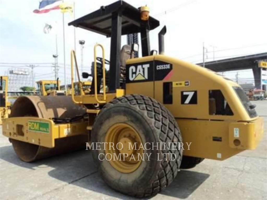 Caterpillar CS-533E, Single drum rollers, Construction