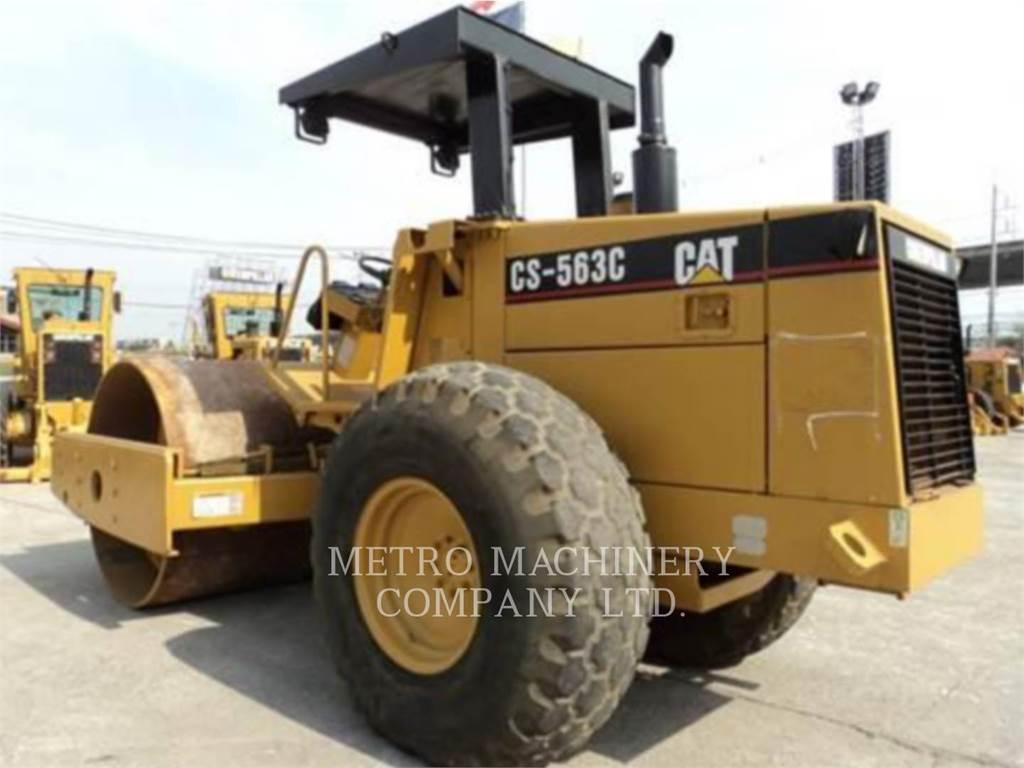 Caterpillar CS-563CAW、单轮压路机、建筑设备