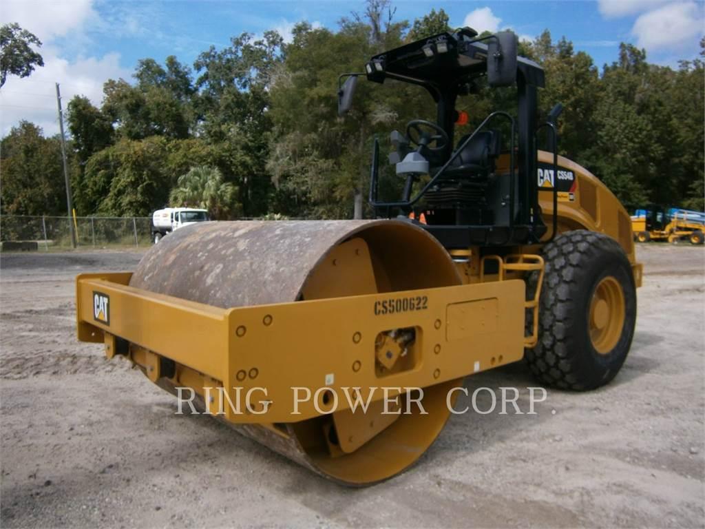 Caterpillar CS54B, Twin drum rollers, Construction