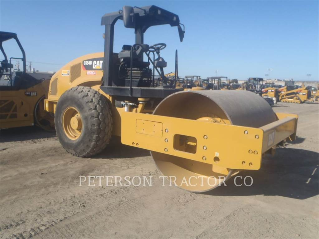 Caterpillar CS54B-MN, Single drum rollers, Construction