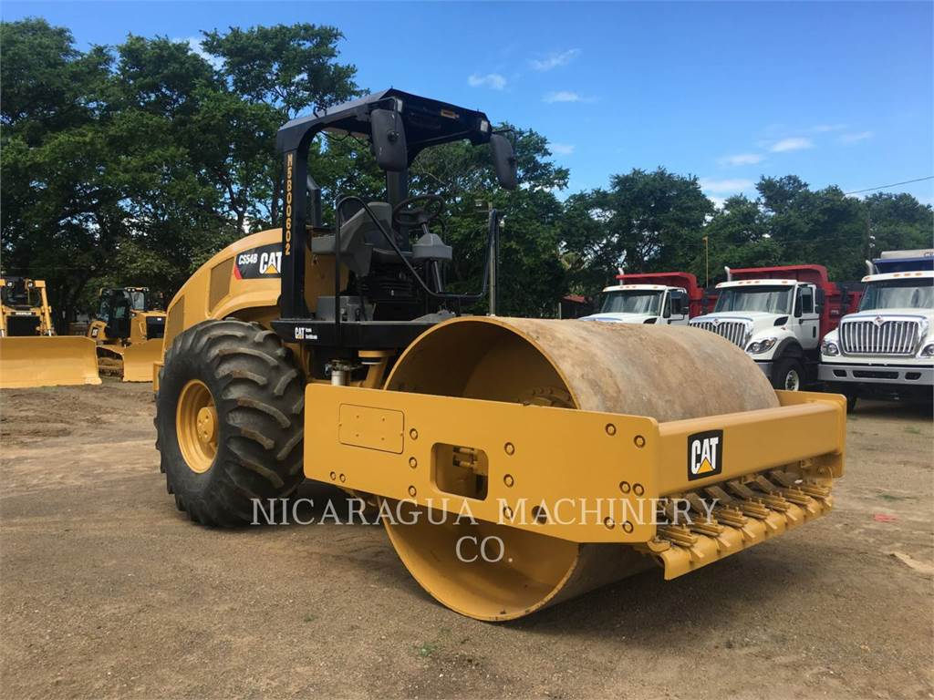 Caterpillar CS54BLRC, Single drum rollers, Construction