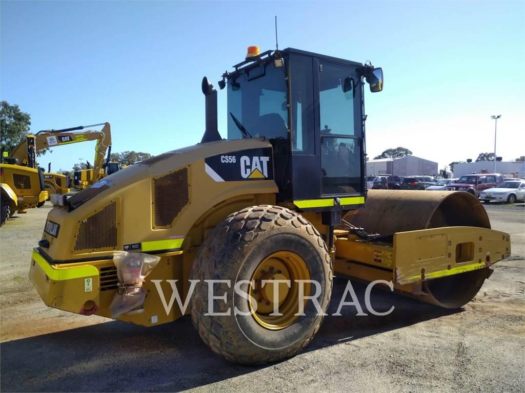 Caterpillar CS56、单轮压路机、建筑设备