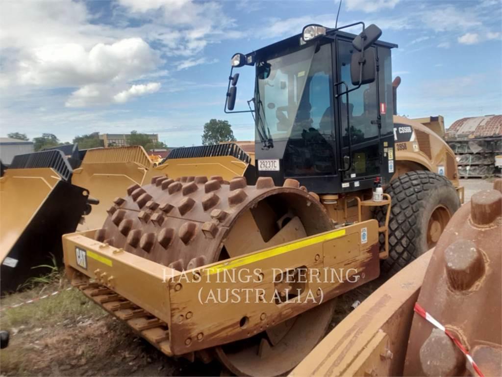 Caterpillar CS56B、单轮压路机、建筑设备