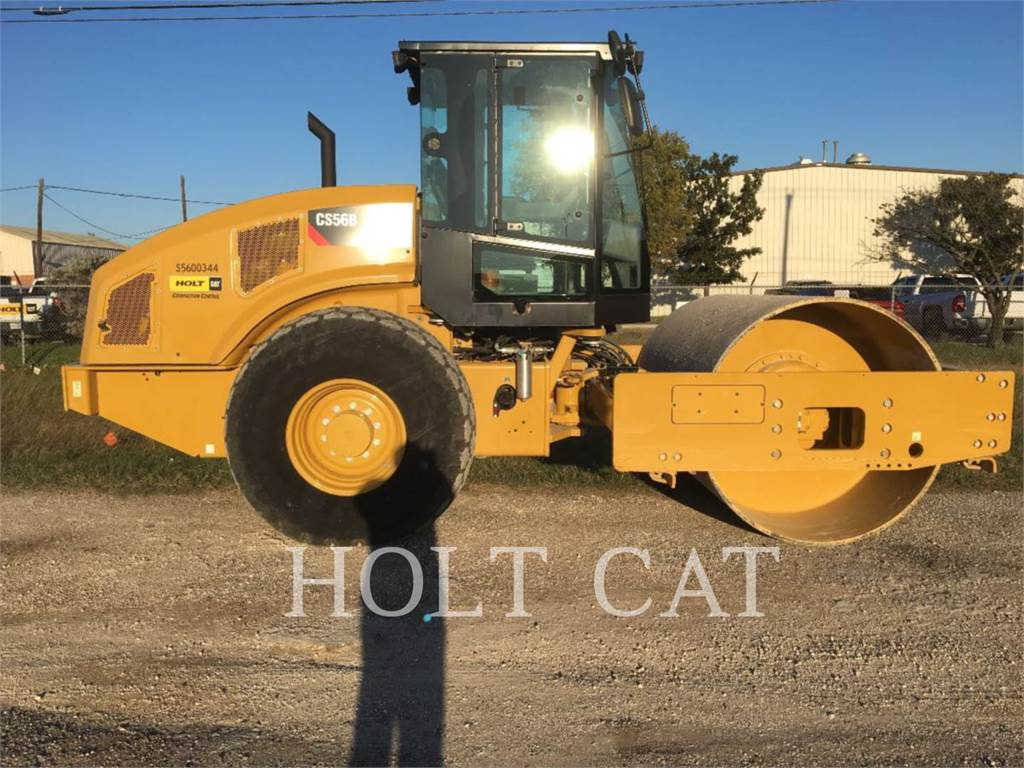 Caterpillar CS56B LOOK、单轮压路机、建筑设备