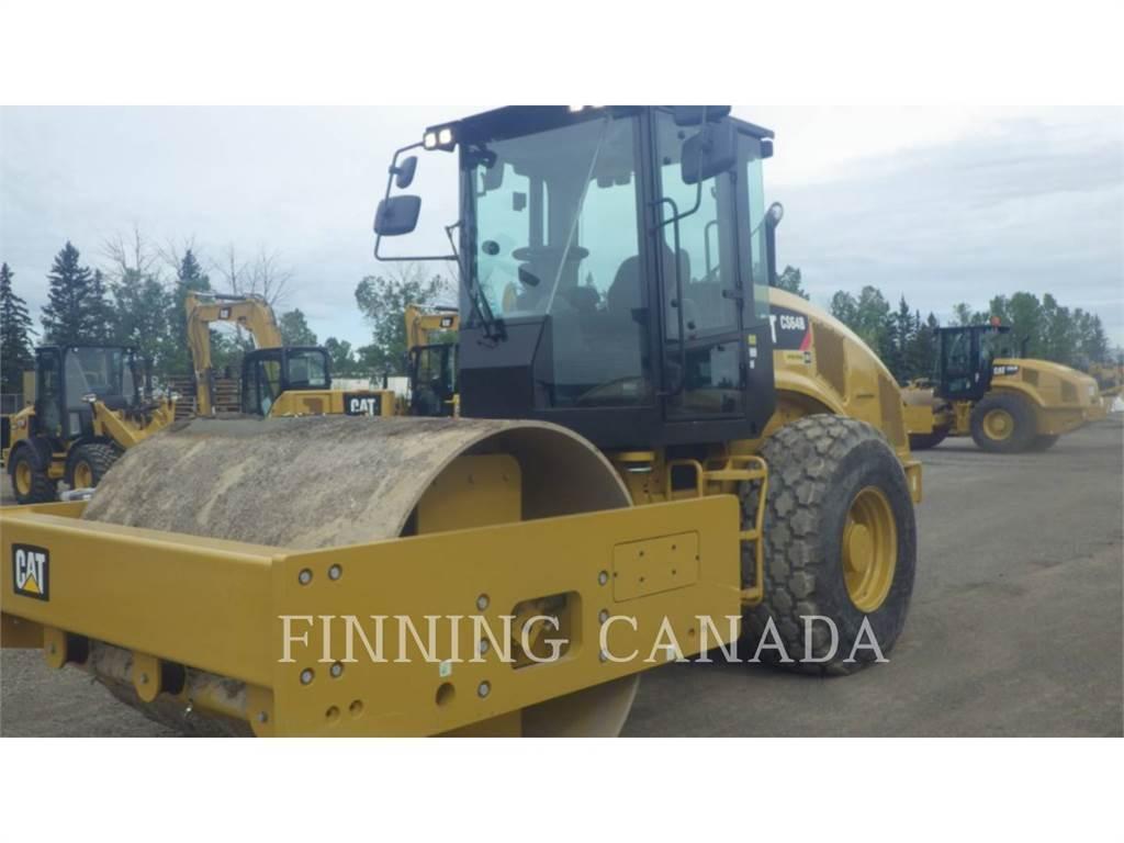Caterpillar CS64B、单轮压路机、建筑设备