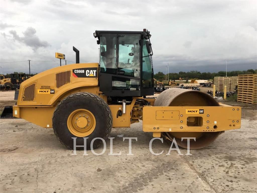 Caterpillar CS66B CAB、单轮压路机、建筑设备