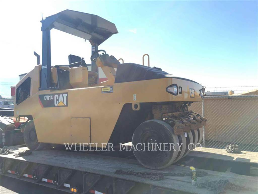 Caterpillar CW14, pneumatic tired compactors, Construction