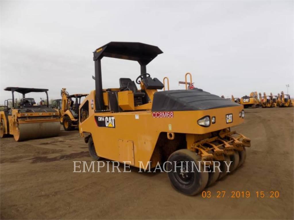 Caterpillar CW14、空気式タイヤ・コンパクタ、建設