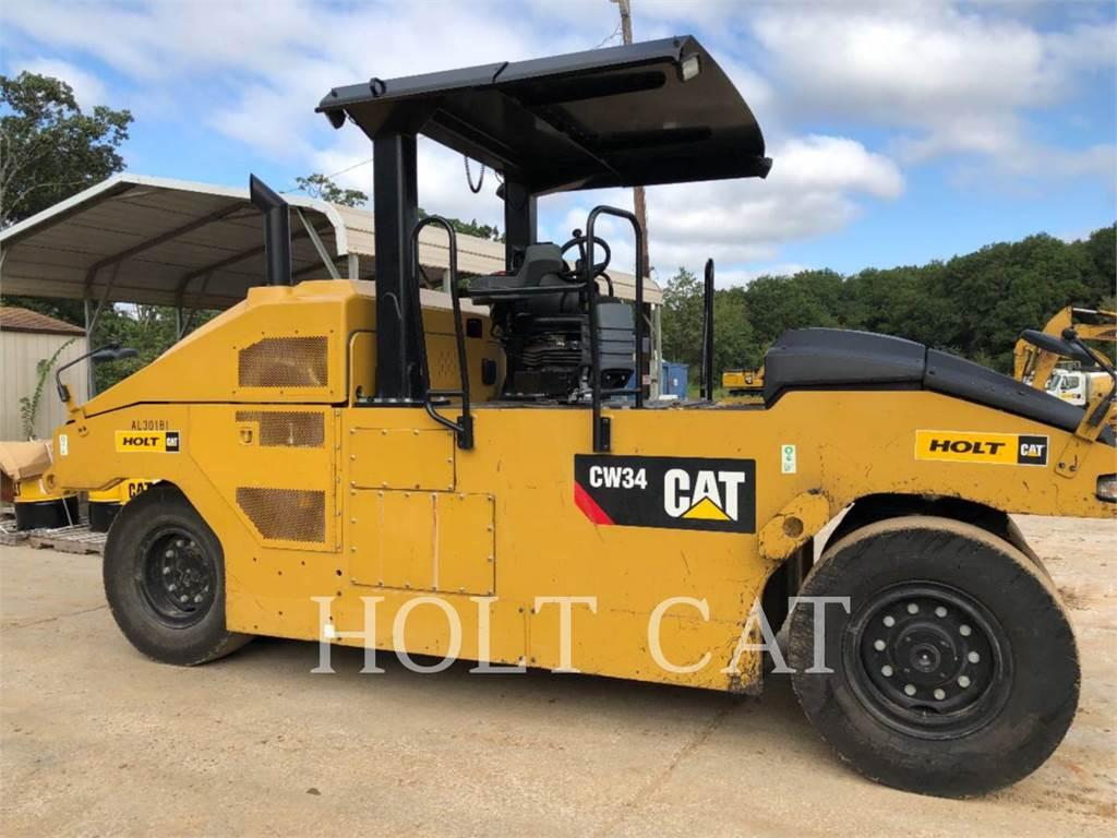 Caterpillar CW34、单轮压路机、建筑设备