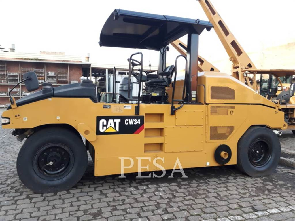 Caterpillar CW34LRC, pneumatic tired compactors, Construction