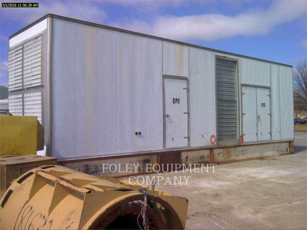 Caterpillar D3516EP、固定式発電機セット、建設