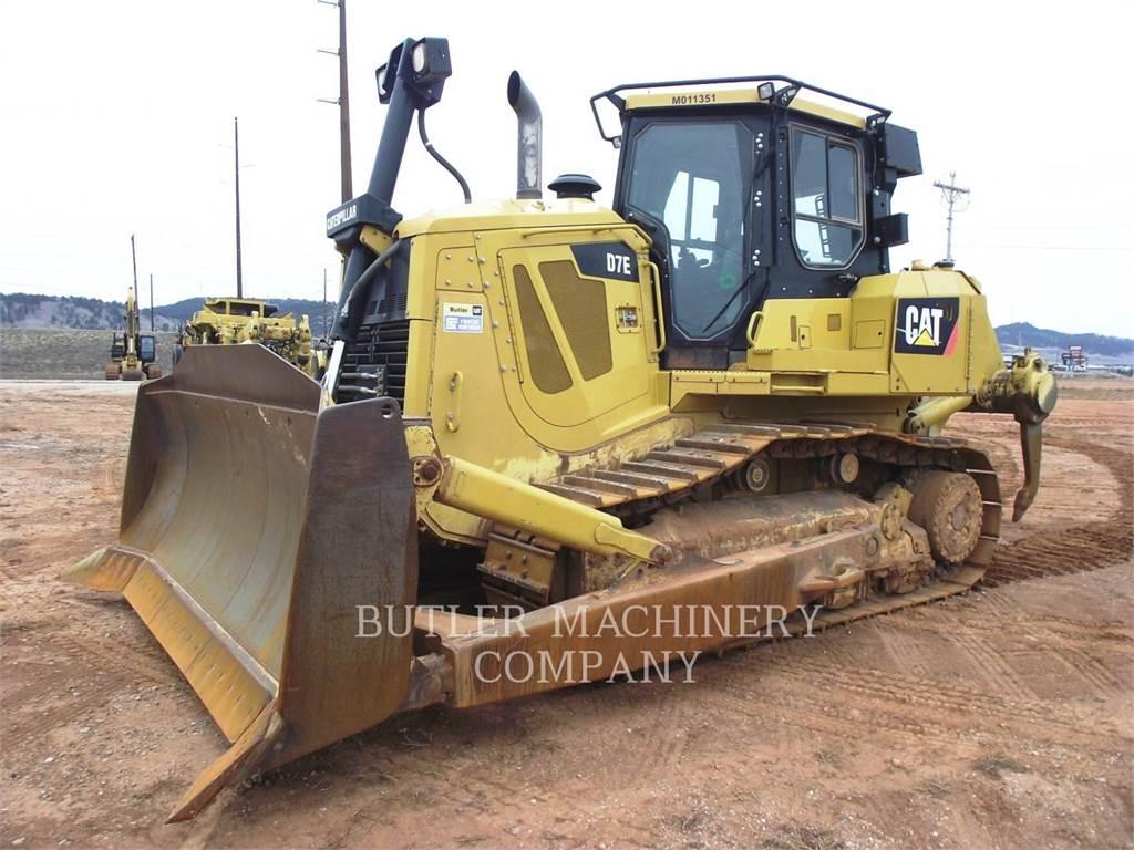 Caterpillar D7E, Spycharki, Sprzęt budowlany