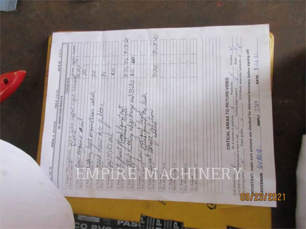 Caterpillar D9T, Crawler dozers, Construction