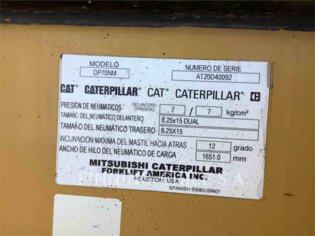 Caterpillar DP70NM, gru, Attrezzature Da Costruzione