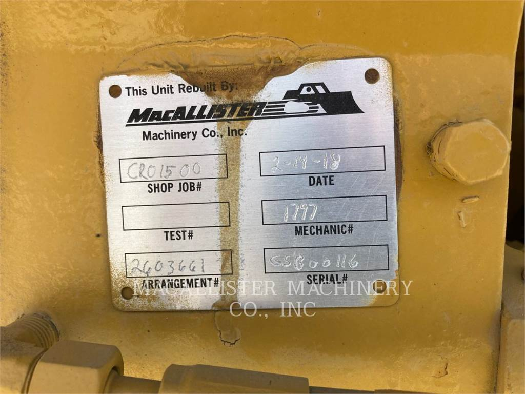 Caterpillar G3516C, Stationary Generator Sets, Construction