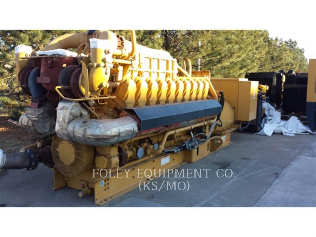 Caterpillar G3520EP、固定式発電機セット、建設