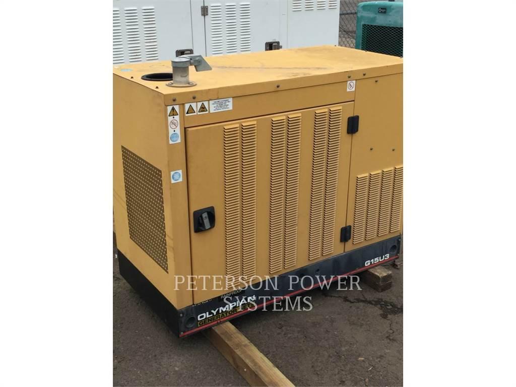 Caterpillar GAS 15KW, Stacjonarne Zestawy Generatorów, Sprzęt budowlany