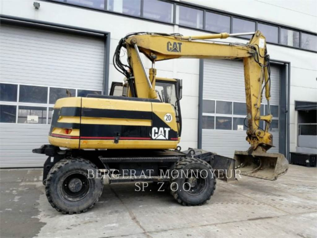 Caterpillar M312, wheel excavator, Construction