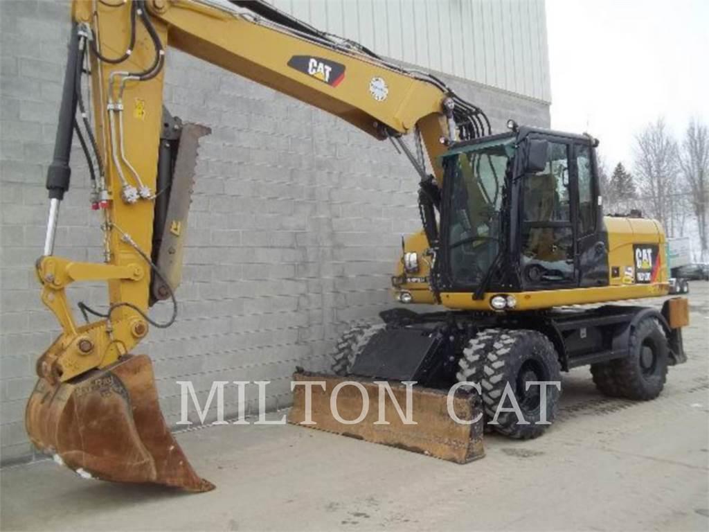 Caterpillar M313D, excavatoare pe roţi, Constructii