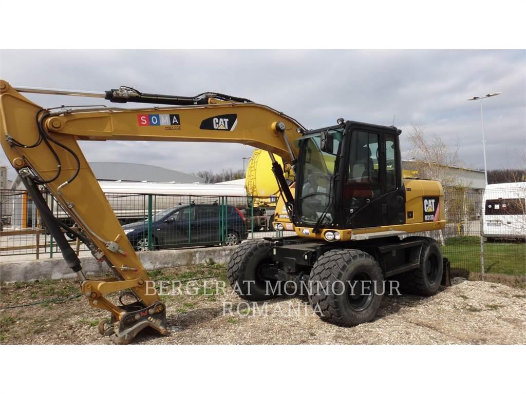 Caterpillar M313D, escavadeiras de rodas, Equipamentos Construção