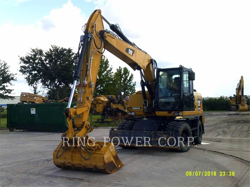 Caterpillar M313D, wheel excavator, Construction