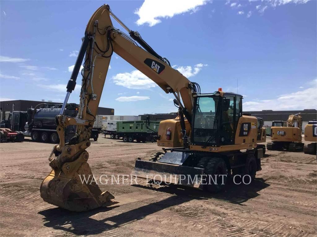 Caterpillar M314F, wheel excavator, Construction