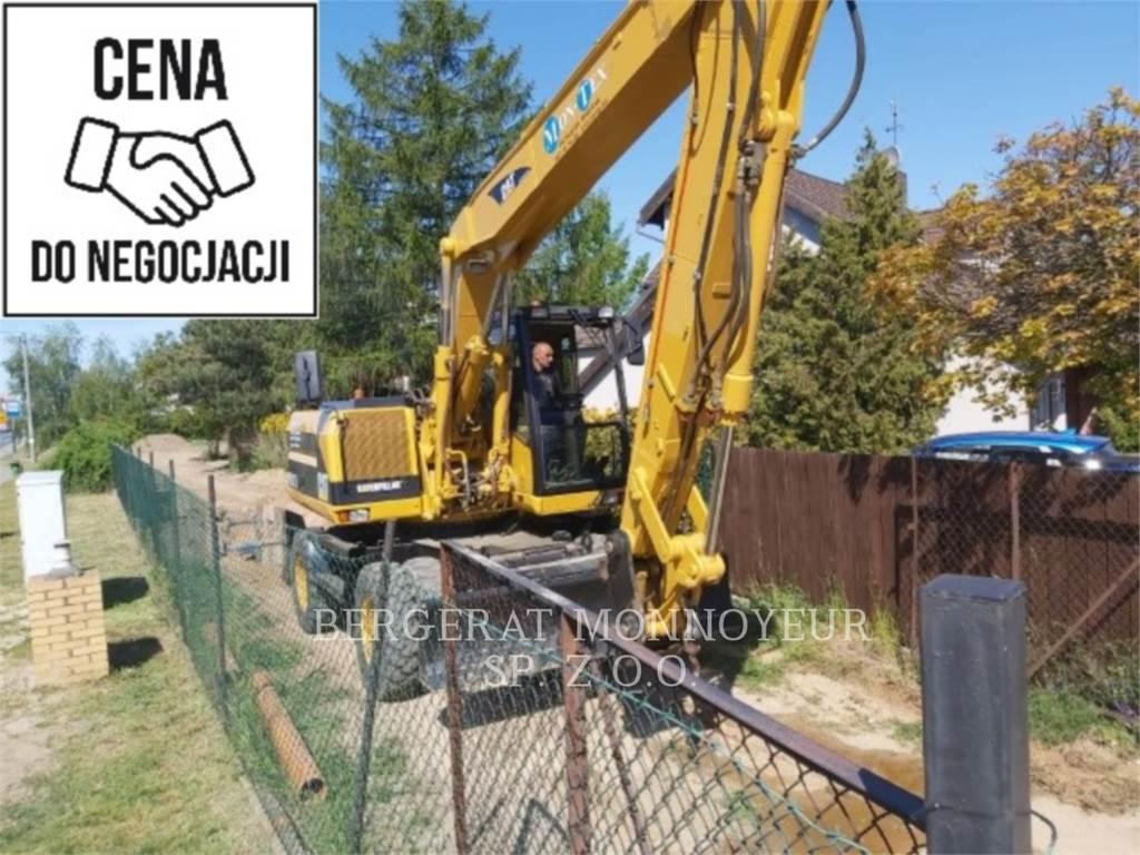 Caterpillar M315, wheel excavator, Construction
