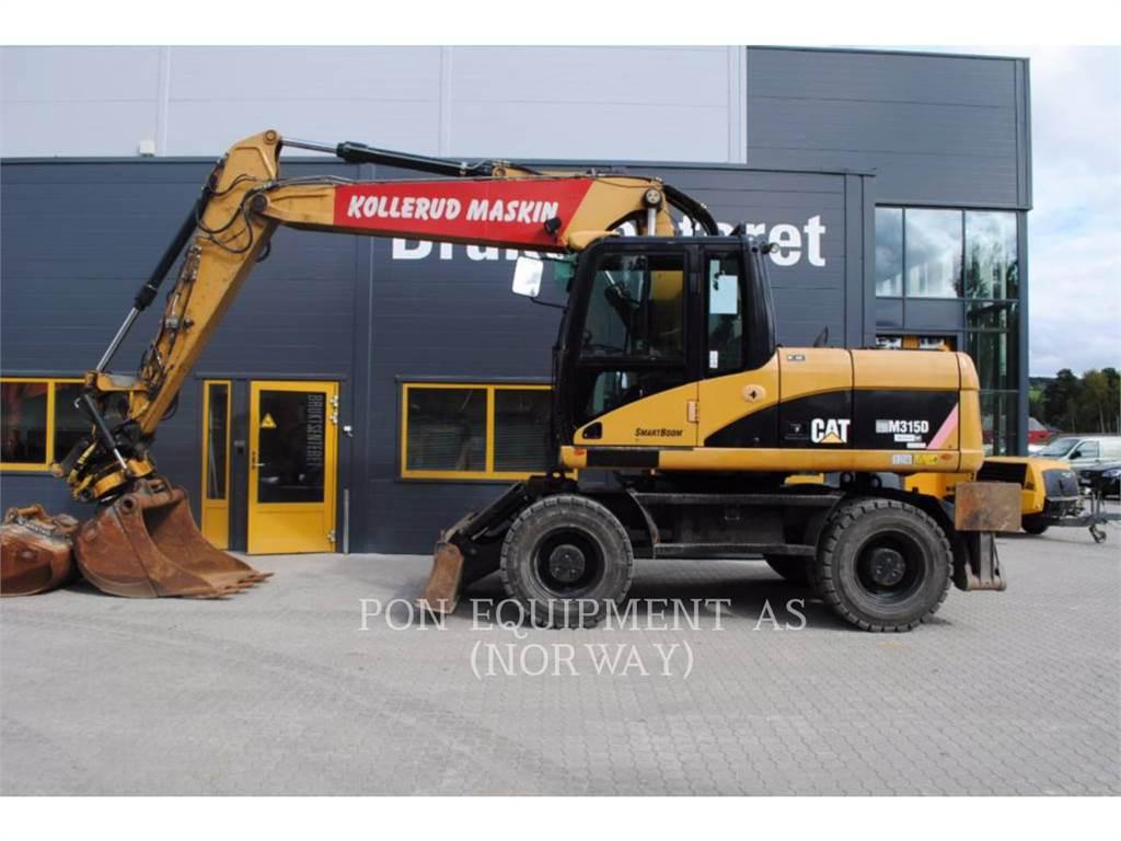 Caterpillar M315D, pelles sur pneus, Équipement De Construction