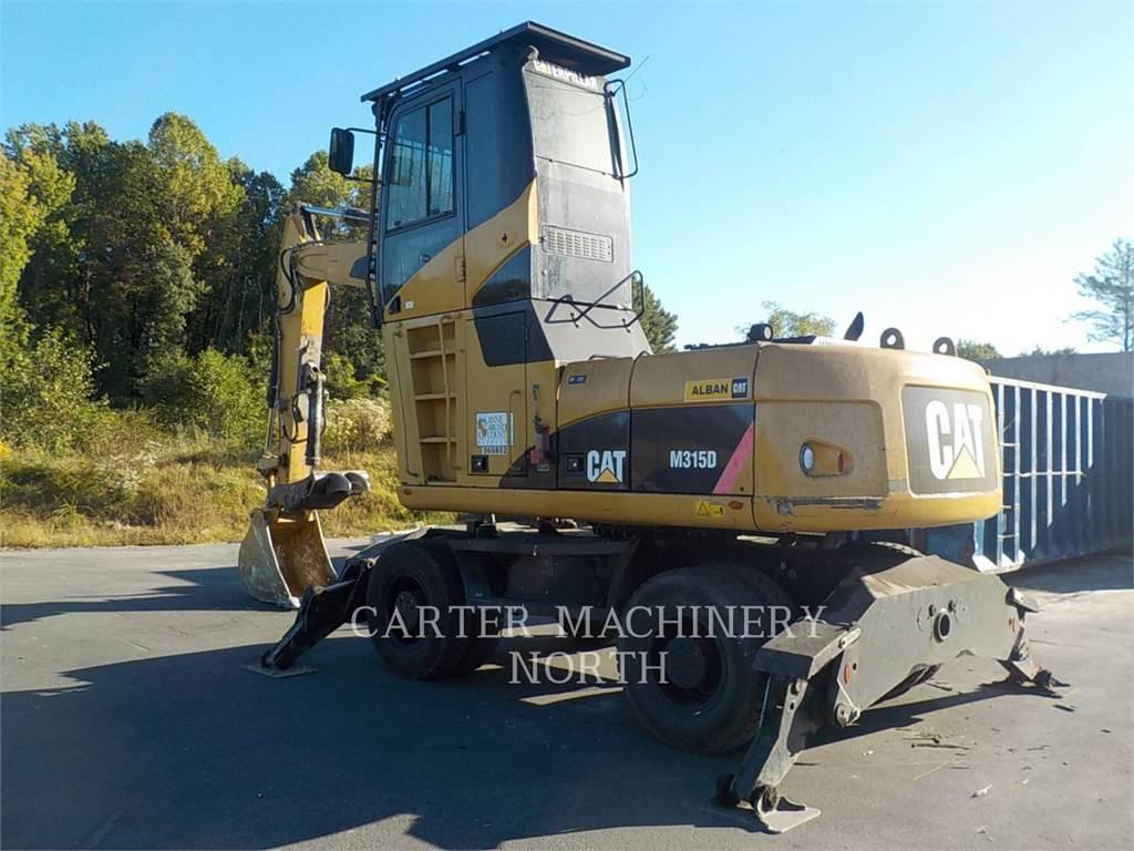 Caterpillar M315D MH, колесные экскаваторы, Строительное